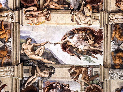 Image result for michelangelo ceiling