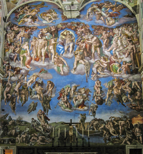 Image result for wall paintings in sistine chapel