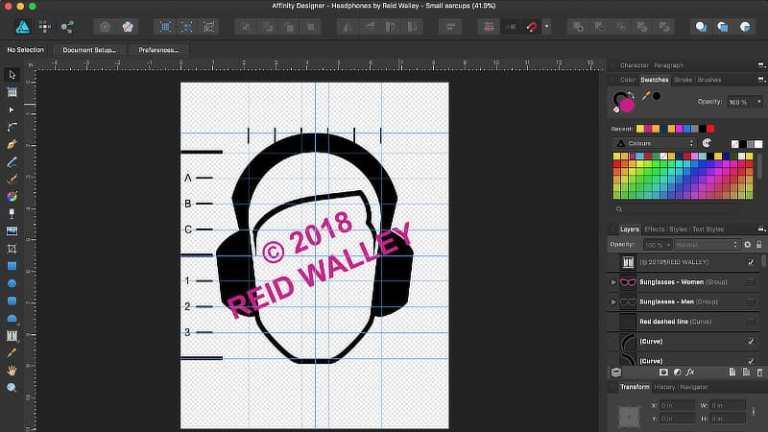 Analog DJ Headphones face - Affinity Designer