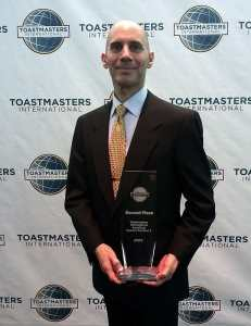 Reid Walley - 2nd-place Semifinalist, 2013 Toastmasters International Speech Contest, Cincinnati, OH