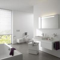 Badezimmer Neubau Ideen   minimalistisches Interieur