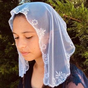 St. Agnus Little Girls White Veil