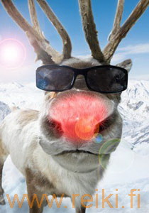 Poro Rudolph red nose reindeer