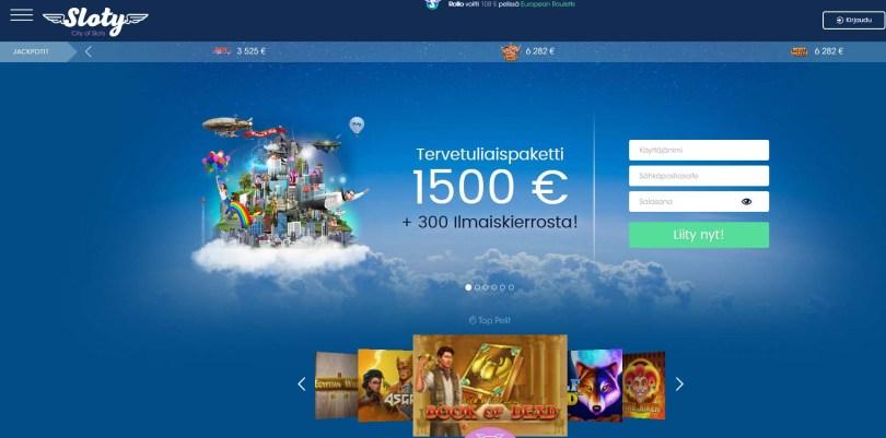 Sloty Casino – pelisivusto aikuisille eurooppalaisille