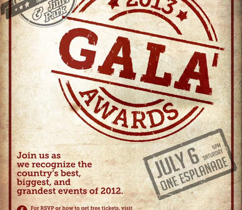 Top 2012 events recognized in the first Gala Awards 2013