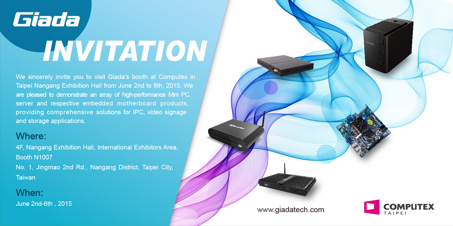 Invitation For Exhibition Booth : Giada technology showcases its latest products at computex
