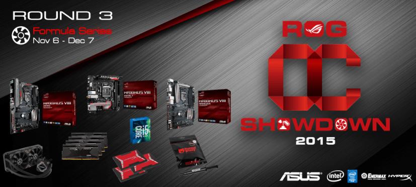 [PR] ASUS Republic of Gamers Announces OC Showdown 2015 Formula Series R3
