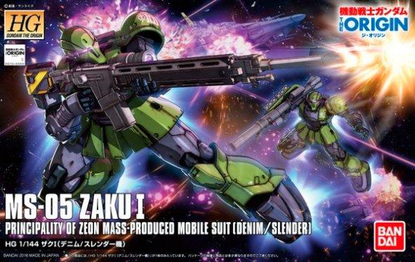 HG 1-144 Zaku I [Slender - Denim custom] Gundam The Origin ver. Box