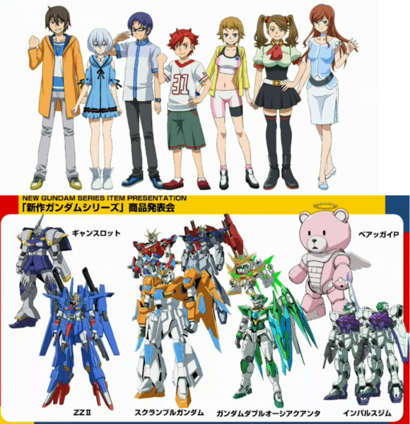 New announcements for gundam build fighters and iron for Domon gundam build fighters try