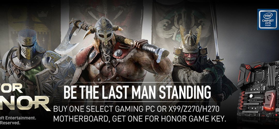 MSI and Ubisoft Team Up with For Honor Game Bundle