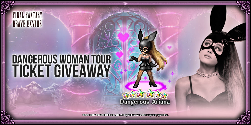 Newest Ariana Grande character arrives at FFBE with chance to win her Live Performance Tickets