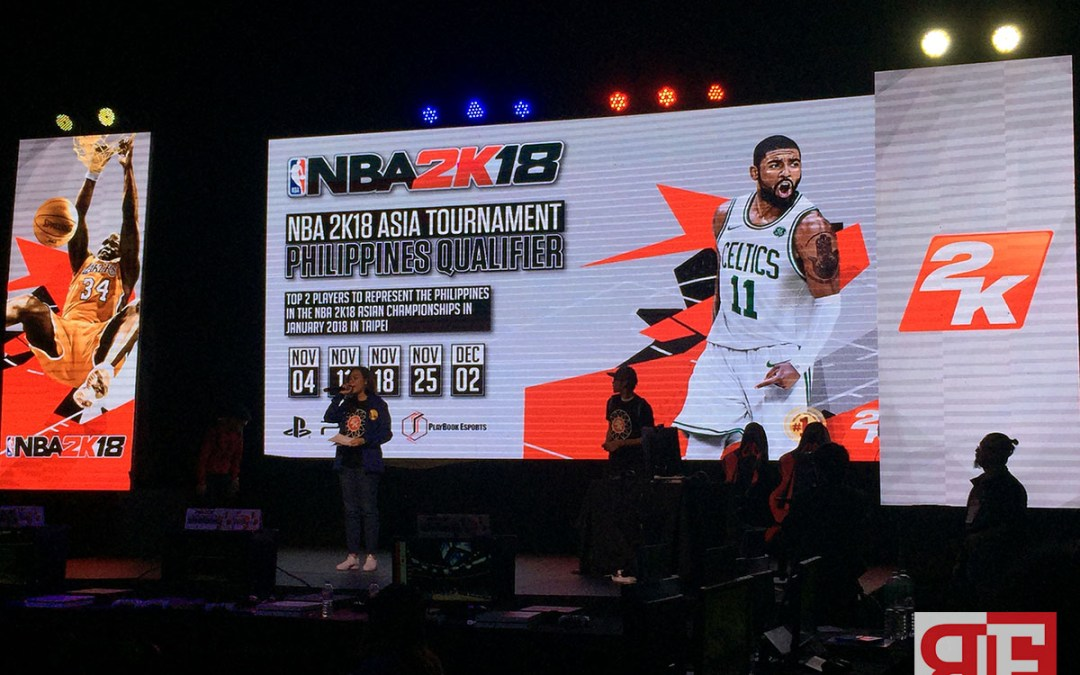 A Glimpse of the Philippine Qualifiers of NBA 2K18 Asia Tournament