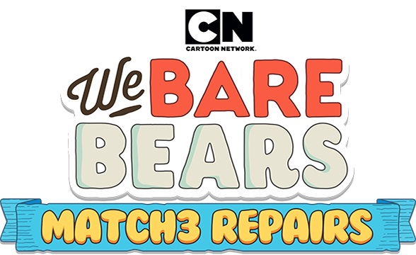 Help Grizz, Panda and Ice Bear fix their home through the We Bare Bears Match3 Repairs App!