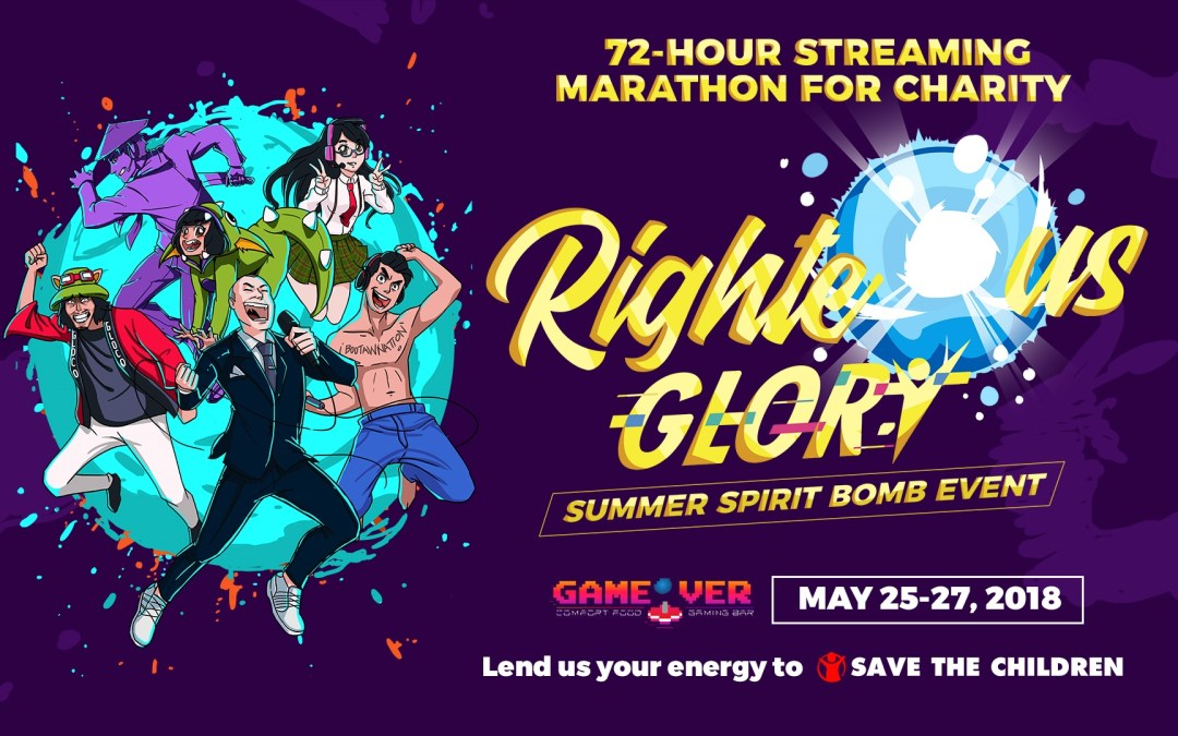Pinoy Gamers Join Forces For Righteous Glory Streaming Marathon