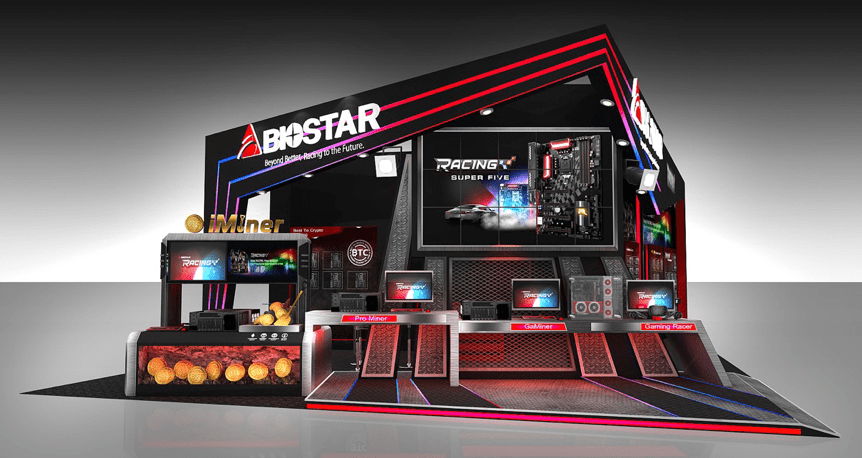 BIOSTAR Teases with Gaming, Crypto Mining, Smart Home and IPC Solutions at COMPUTEX 2018