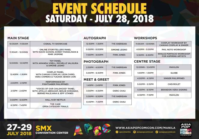 APCC Manila 2018 day 2 schedule