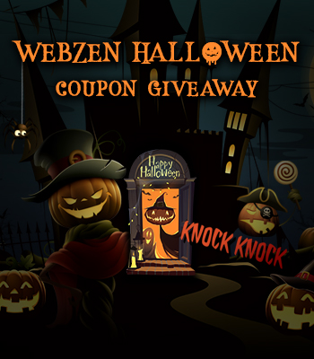WEBZEN Halloween Coupon Giveaway 2018