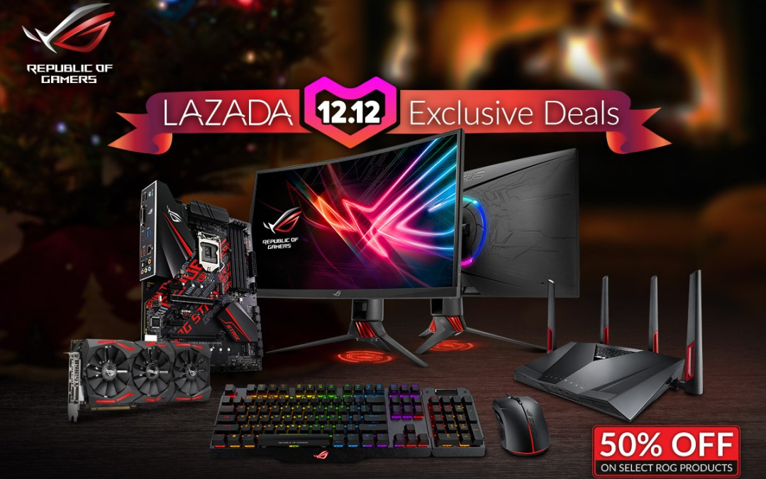 ASUS Republic of Gamers Joins Lazada 12.12 Campaign