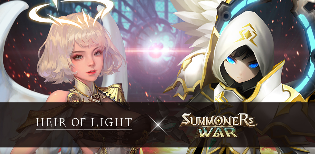 Heir of Light plays big when inviting the Summoners War characters to its new update