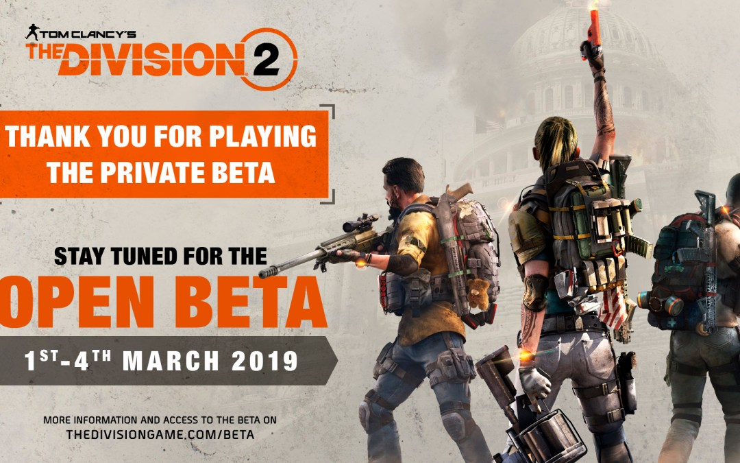 Tom Clancy's The Division 2 Open Beta Begins March 1