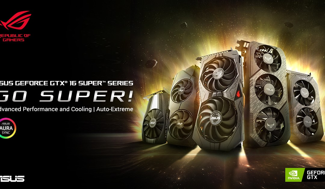 ASUS Announces GeForce GTX 1660 and 1650 SUPER Series Graphics Cards