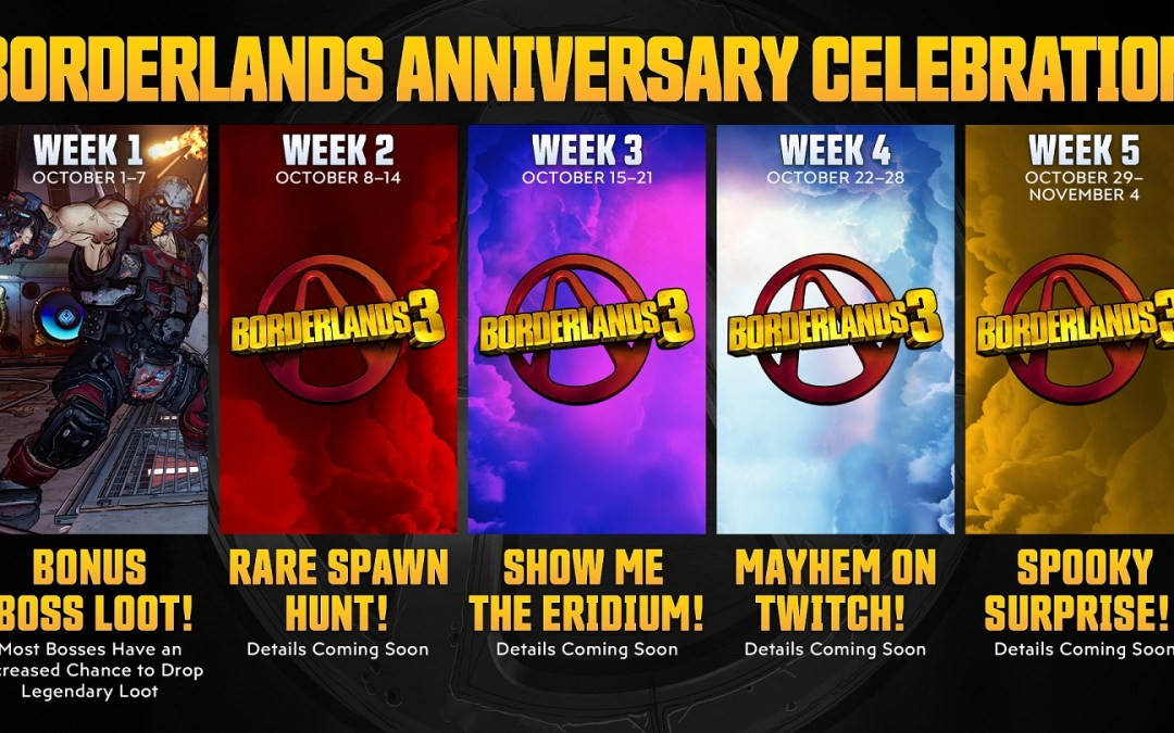 Celebrate Borderlands' 10-Year Anniversary with a Month of Rewards