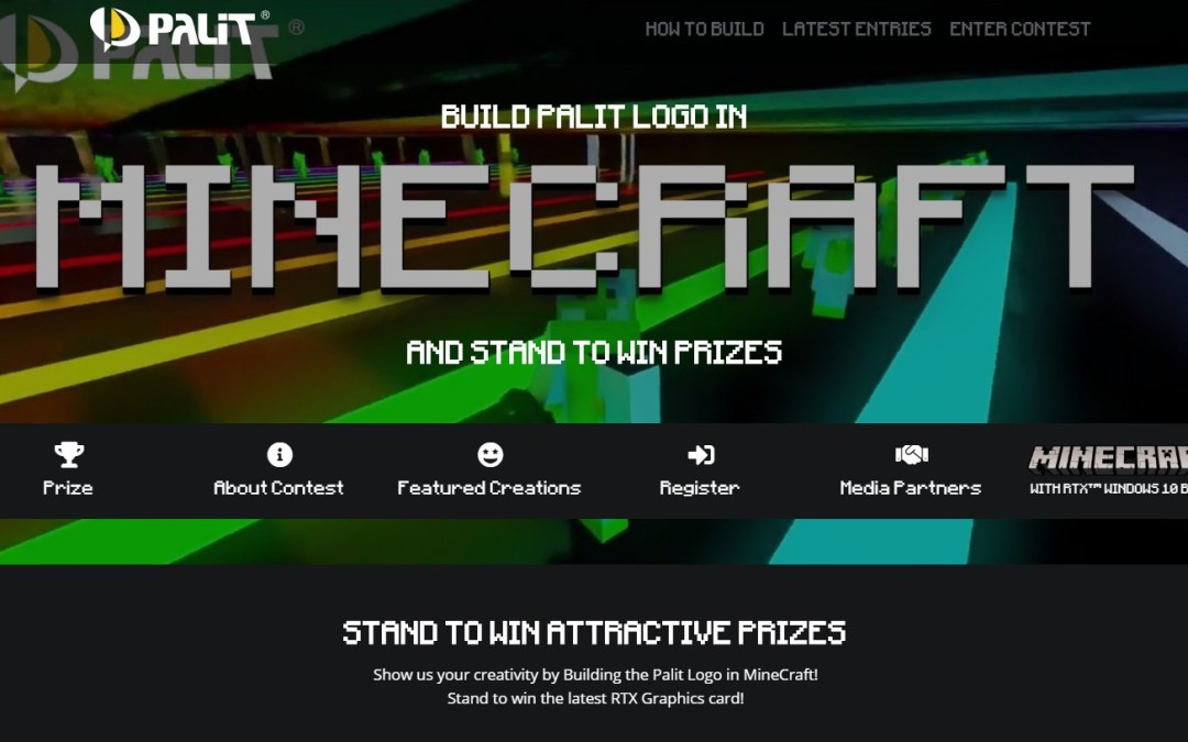 Win a PALIT GeForce RTX 2080 Graphics Card by Building their Logo in Minecraft