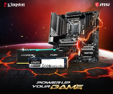PowerUpYourGames as Kingston and MSI Partner Up for the Ultimate Gaming Solution