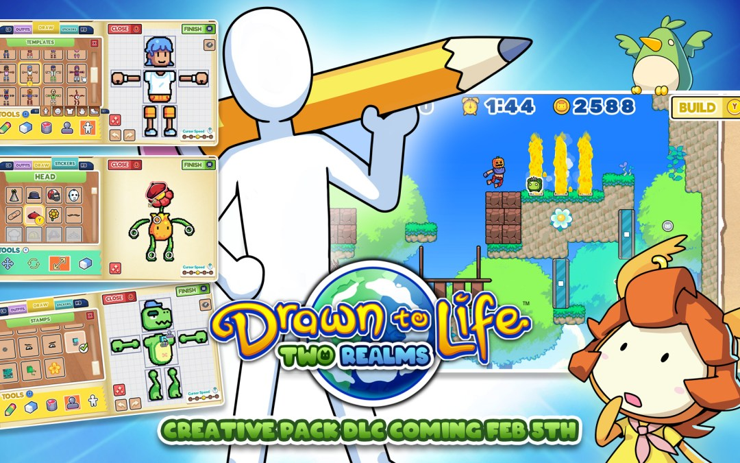 Free DLC For Drawn To Life: Two Realms Adds Touch Screen Creation for Nintendo Switch