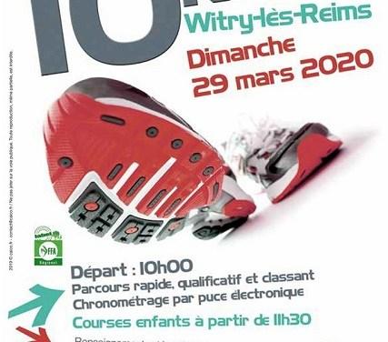 29 mars 2020 – 10Km de Witry-Lès-Reims