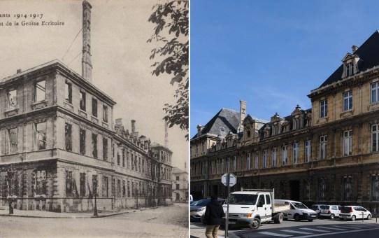Arrière de l'Hôtel de Ville, rue de la Grosse Ecritoire
