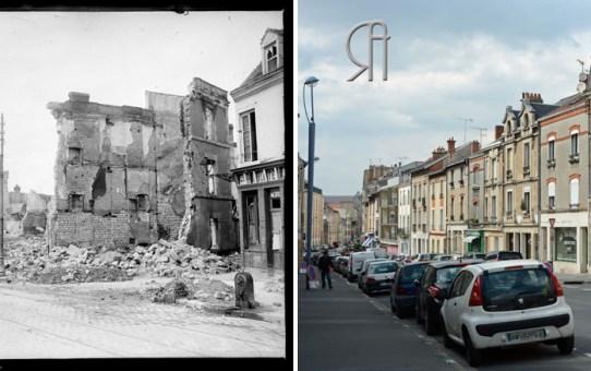 La rue du Barbâtre bombardée
