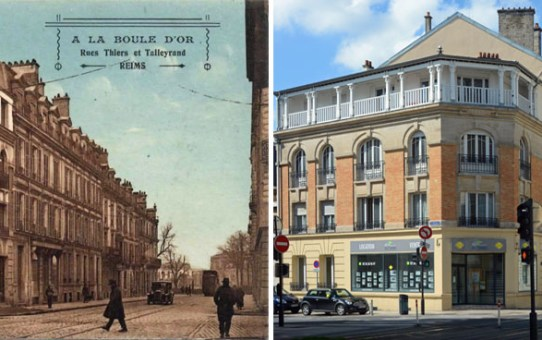 """""""A la Boule d'Or"""" rues Thiers et Talleyrand"""