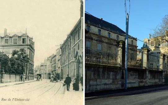 Rue de l'Université et le Lycée