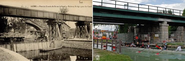 Pont de chemin de fer sur le canal