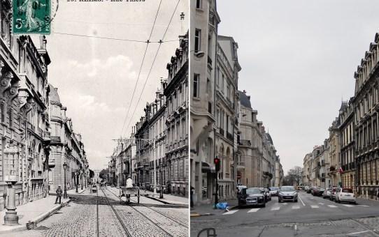 Rue Thiers prise de la place de l'Hôtel de Ville