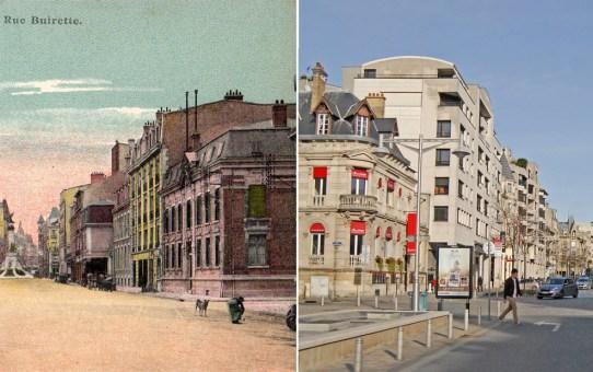 La rue Buirette après la reconstruction