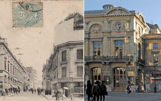 Le Grand Théâtre et la rue Chanzy