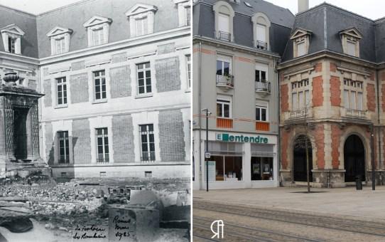 La Reconstruction : cours Langlet et la fontaine des Bouchers, mars 1925