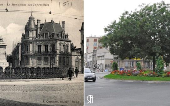 Esplanade Cérès à trois époques, actuelle place Aristide Briand