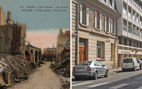 Rue Pluche, vers la place des Marchés (actuelle place du Forum)