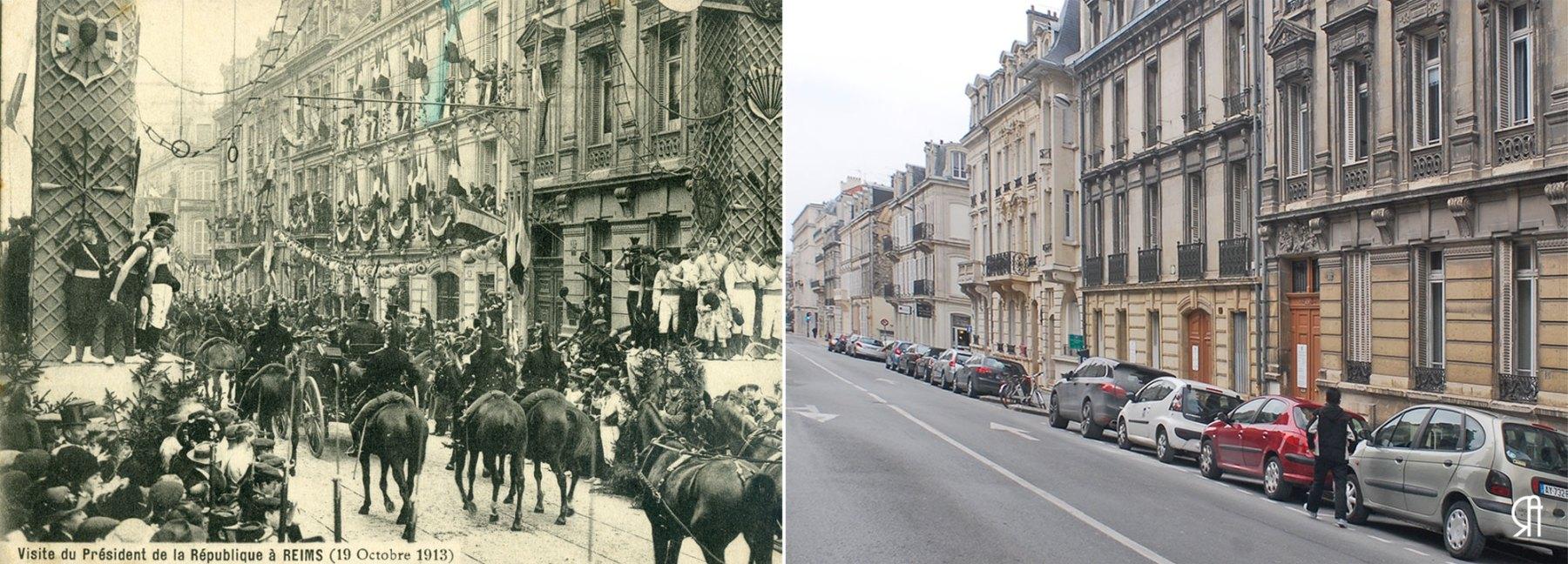Rue Thiers, visite de Poincarré