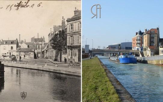 La rue Irénée-Lelièvre, vue du canal