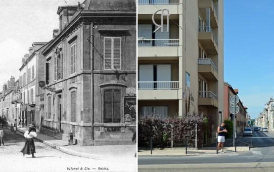 La rue du Mont d'Arène vue de l'avenue de Laon