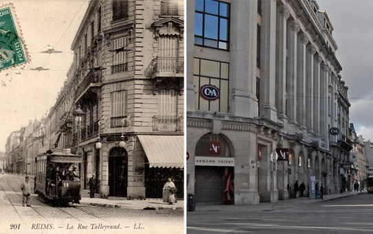 La rue de Talleyrand et la place du Théâtre