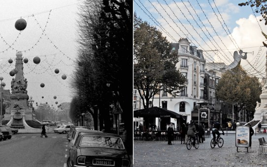 le 20 décembre 1976, la Fontaine Subé et la place d'Erlon