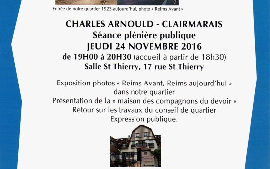 24 novembre 2016 - EXPOSITION ReimsAvant