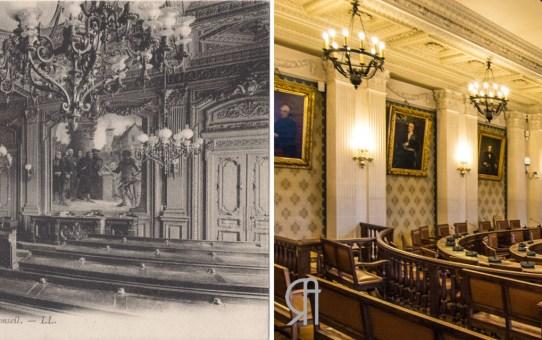 Hôtel de ville : La salle du Conseil Municipal