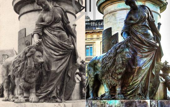 Détail du monument de Louis XV