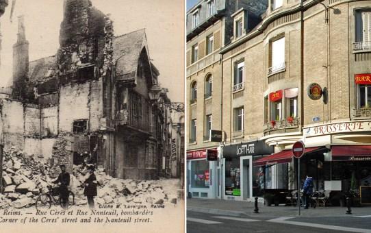 Rue Cérès au fond : la place Royale